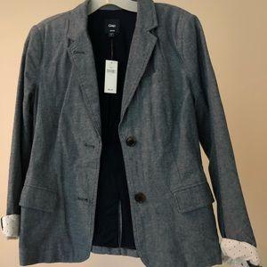 GAP factory chambray blazer